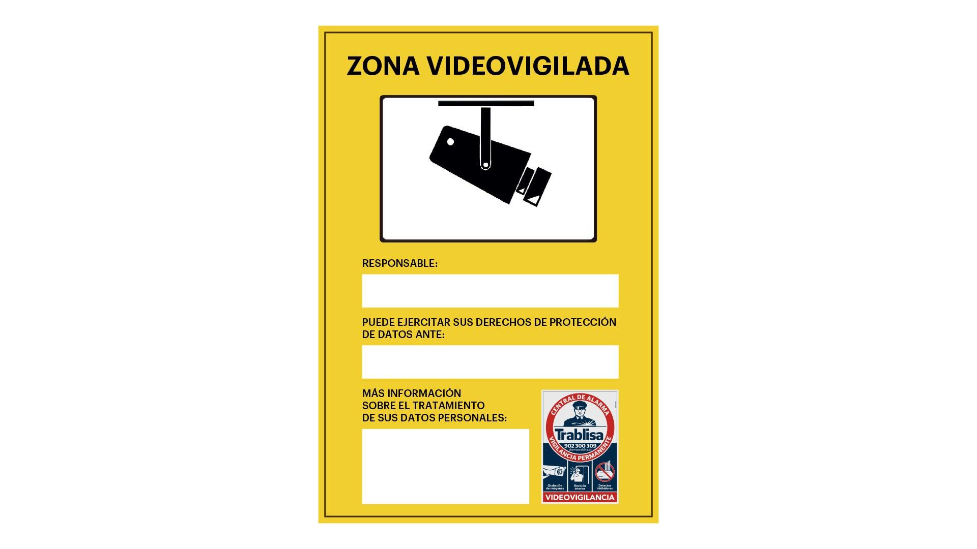 El cartel amarillo de zona videovigilada, ¿qué es?